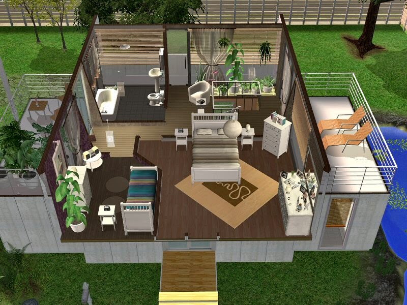 Simplified sims 2 haus diva for Modernes haus sims 4