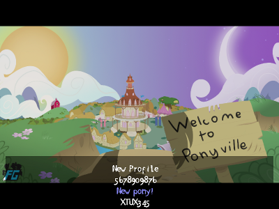 Welcome to Ponyville title screen.