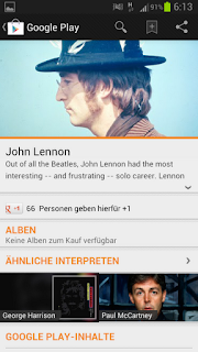 John Lennon Google Play Music Screenshot