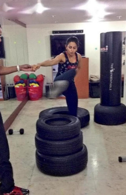 Rakul Preet Singh Gym Workout HD images