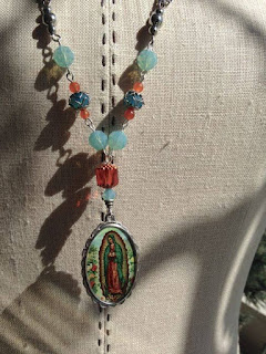 OOAK Lady of Guadalupe necklace by The Pickled Hutch