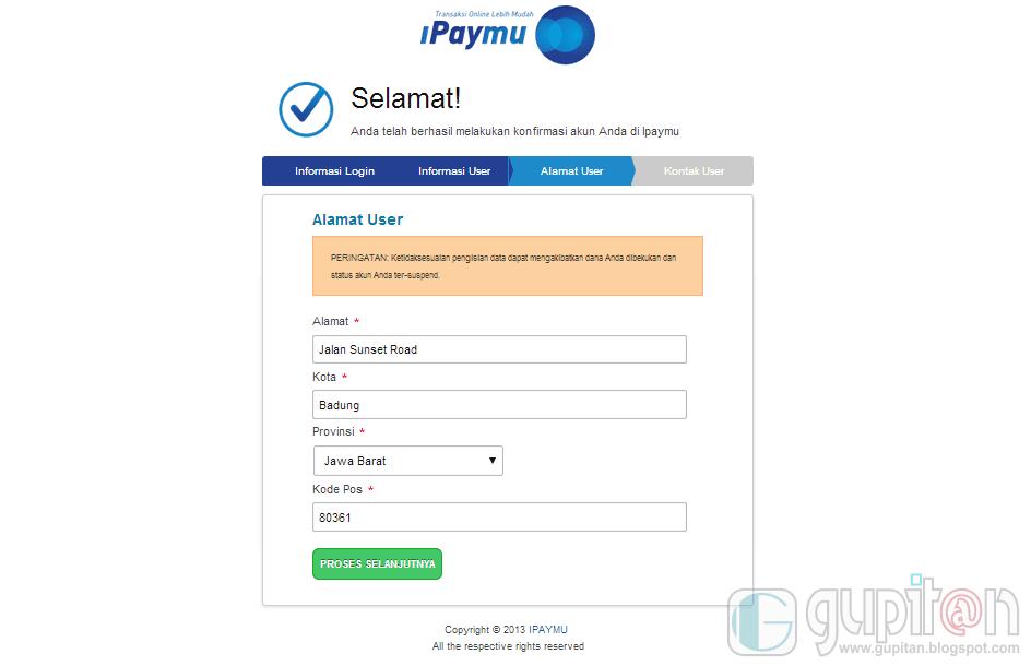Cara Daftar iPaymu 2014 3