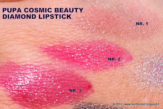 Pupa Diamond Lipstick Swatches - Cosmic Beauty Collection