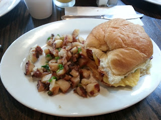 The French Press' amazing breakfast sandwich