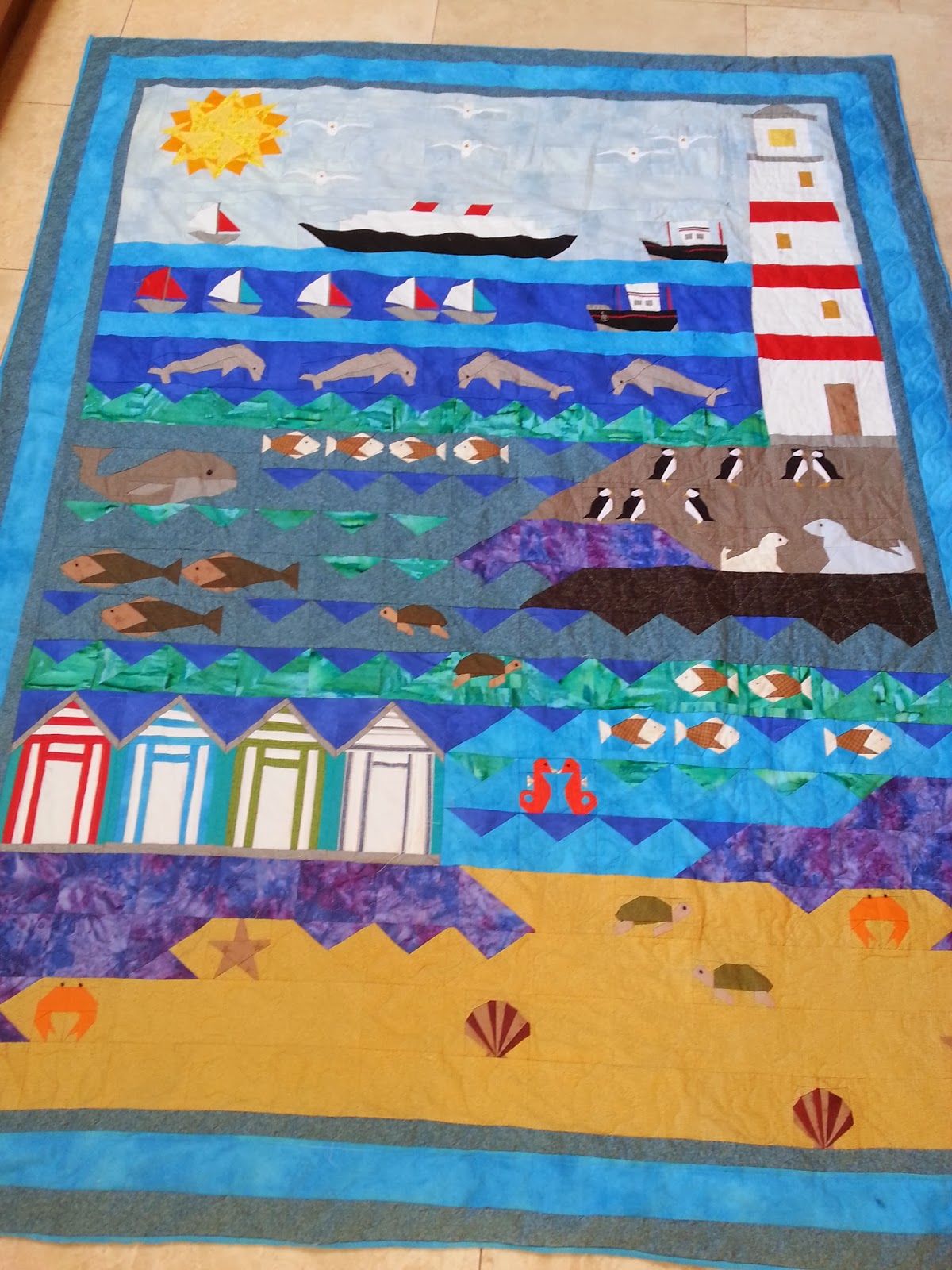 Naptime Stitching..........: I do love to be beside the seaside! : seaside quilt - Adamdwight.com