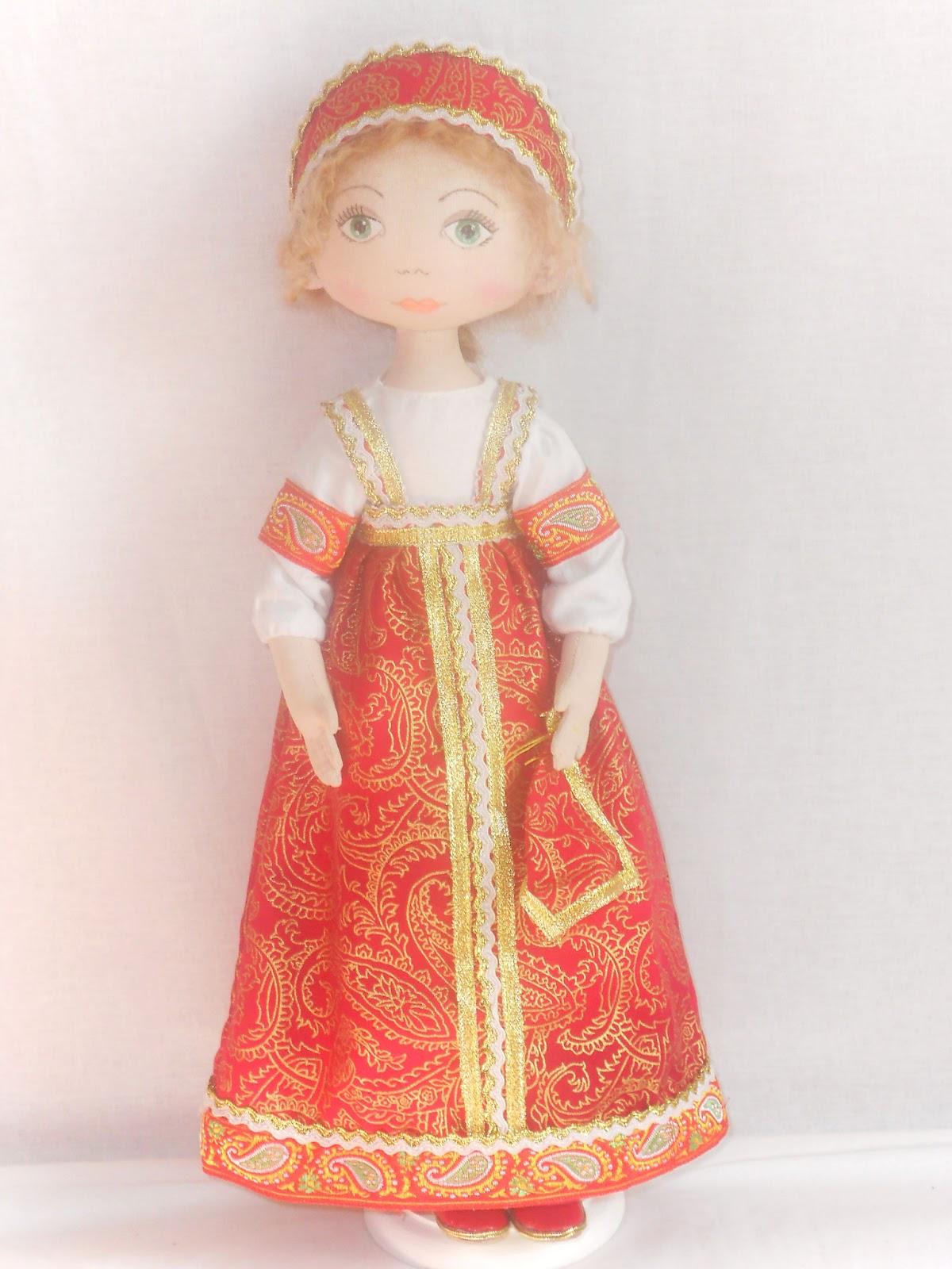 Куклы в народных костюмах своими руками из ткани 79