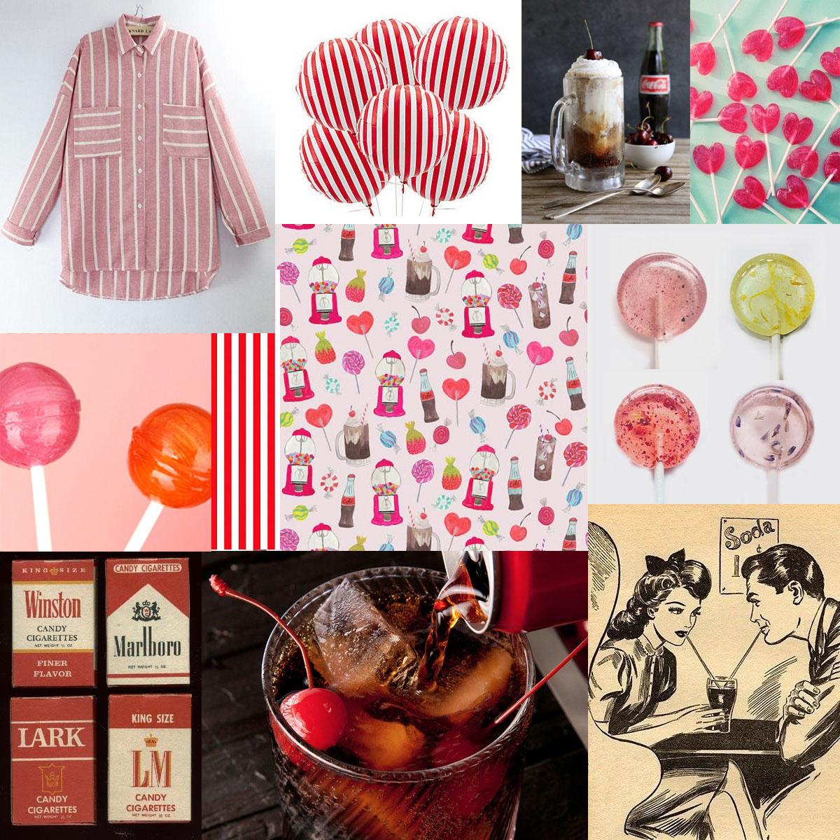 1950s fashion inspiration board
