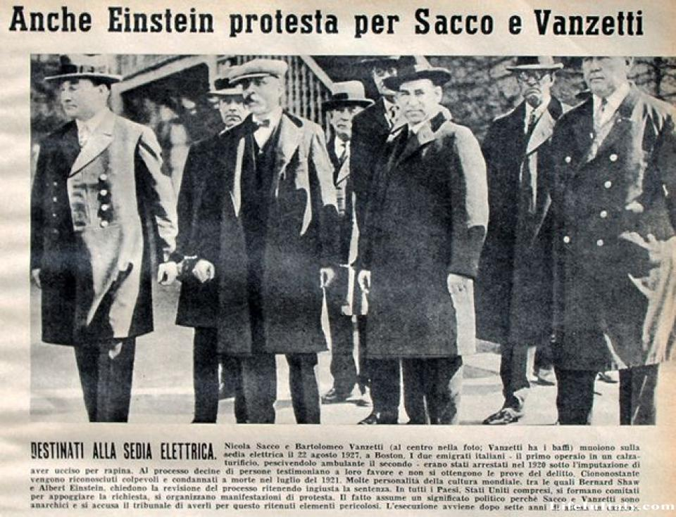 an analysis of the facts of the popular sacco vanzetti case Italian anarchists nicola sacco (right) and bartolomeo vanzetti (left) walking through a crowd while handcuffed after being accused of the murder of a paymaster and a guard in south braintree, mass, 1920.