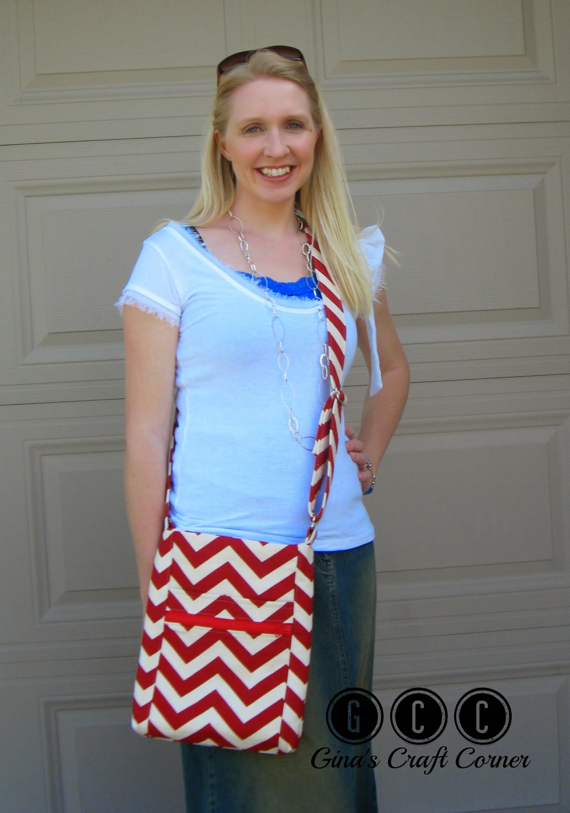 Two Zip Hipster Crossbody by Ginas Craft Corner (Pattern by Erin Erikson)