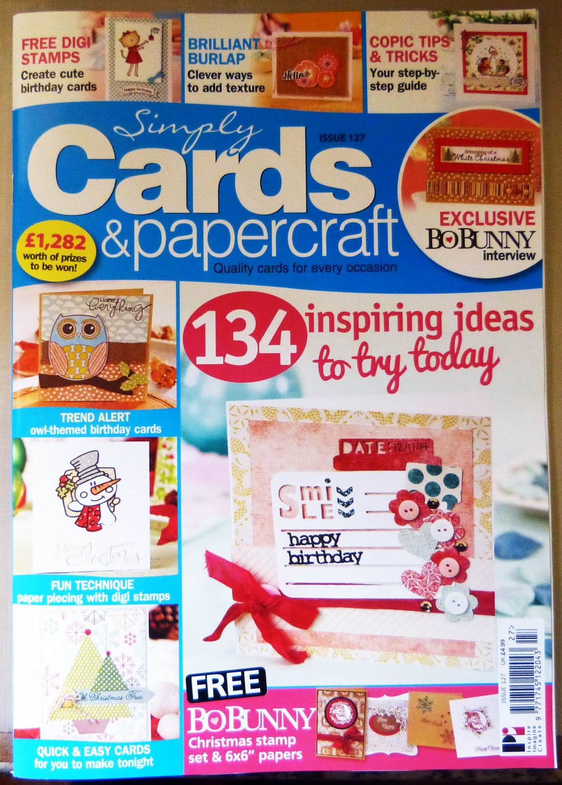 Published Simply Cards & Papercraft Issue 127