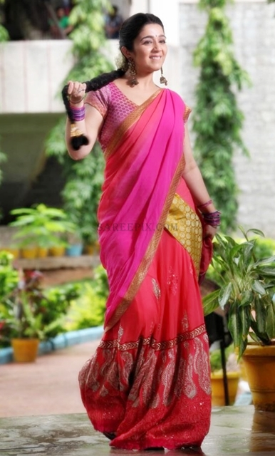 Charmi-kaur-dance-half-saree-photoshoot