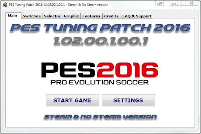 Tampilan PES Tuning Patch Switcher