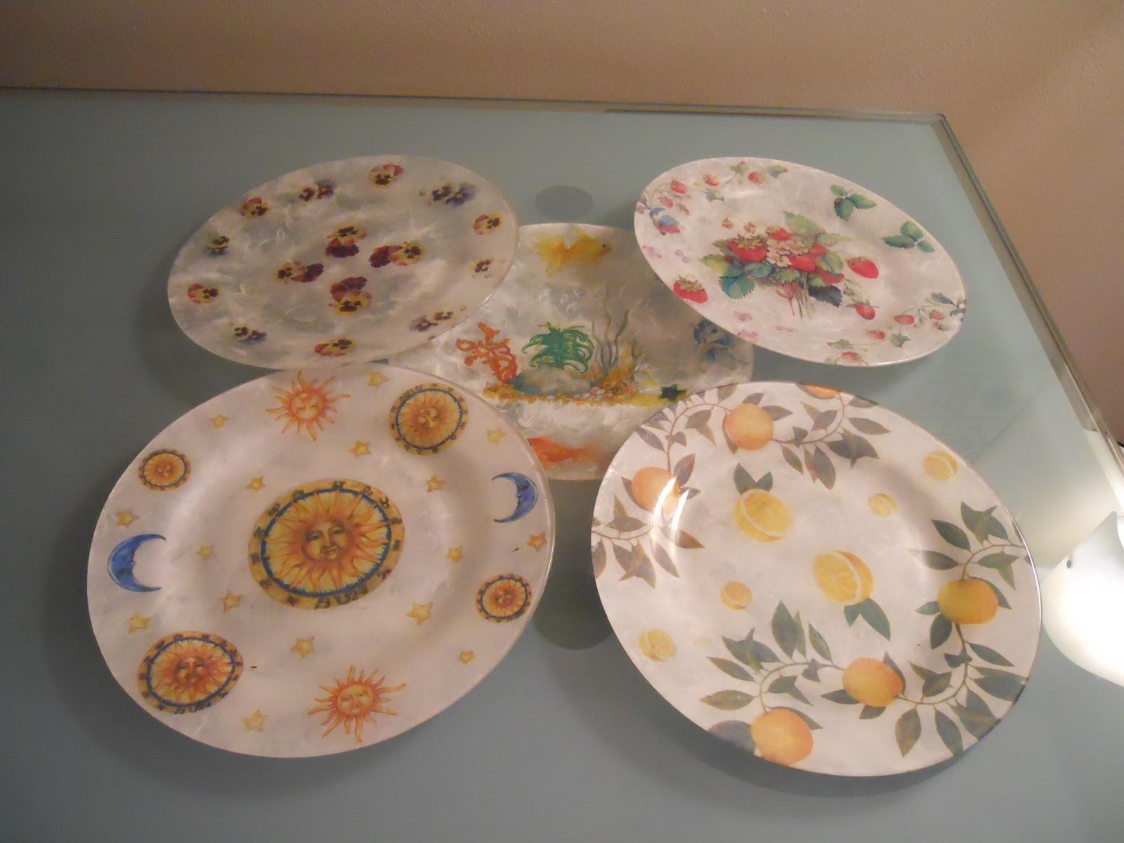 Uzzolo piatti decorati con carta di riso - Piatti di frutta decorati ...