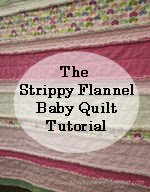 Strippy Flannel Baby Quilt