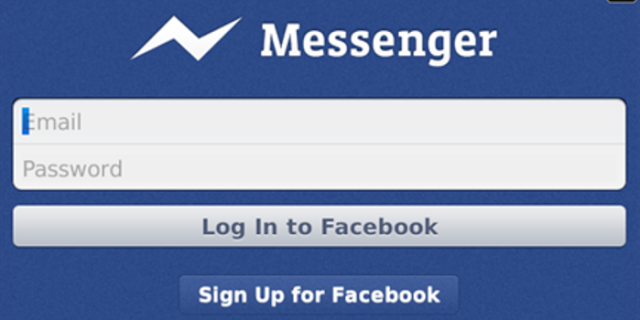 Facebook Messenger app Windows 8