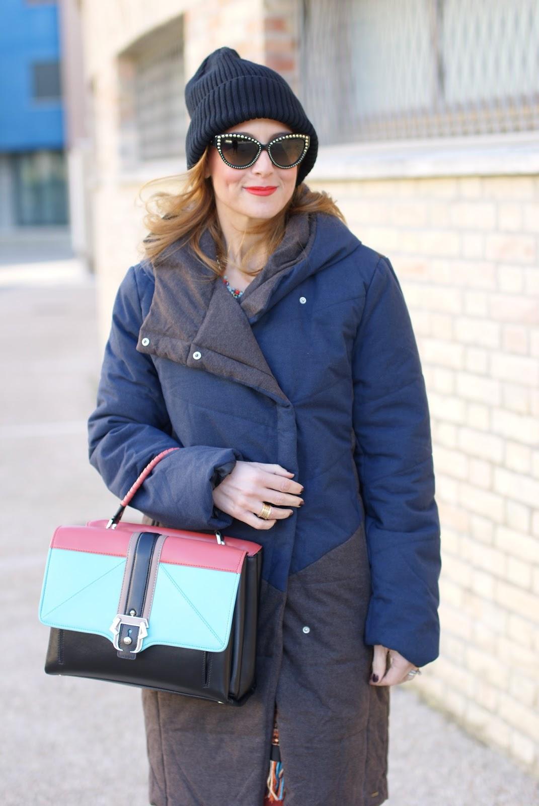 Paramita Zaliv jacket and Paula Cademartori Faye bag on Fashion and Cookies fashion blog, fashion blogger style