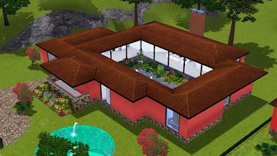 The sims giuly download e tutorial di the sims 3 villa con giardino interno - Immagini di ville con giardino ...