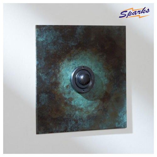 Single Button Dimmer in Verdigris