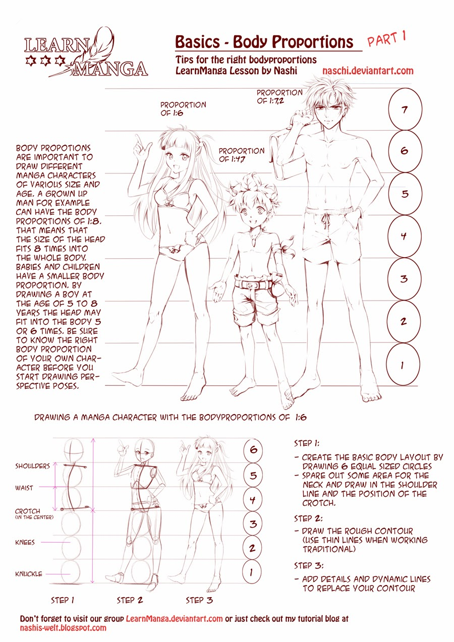 Nashi 39 s world learn manga body proportions for How to draw a body tumblr
