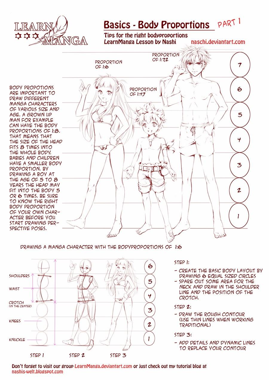 Manga Character Design Pdf : Nashi s world learn manga body proportions