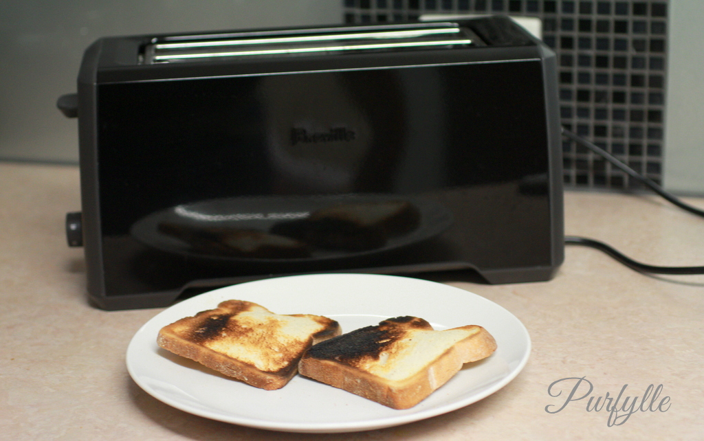 bread-and-charcoal Bread-Art | toaster fail - burnt and raw on the same slice of bread