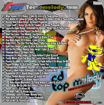 Cd Top Melody o Original 2013 vol.18 (Versão Internacional cd2) - Dj Blackmix