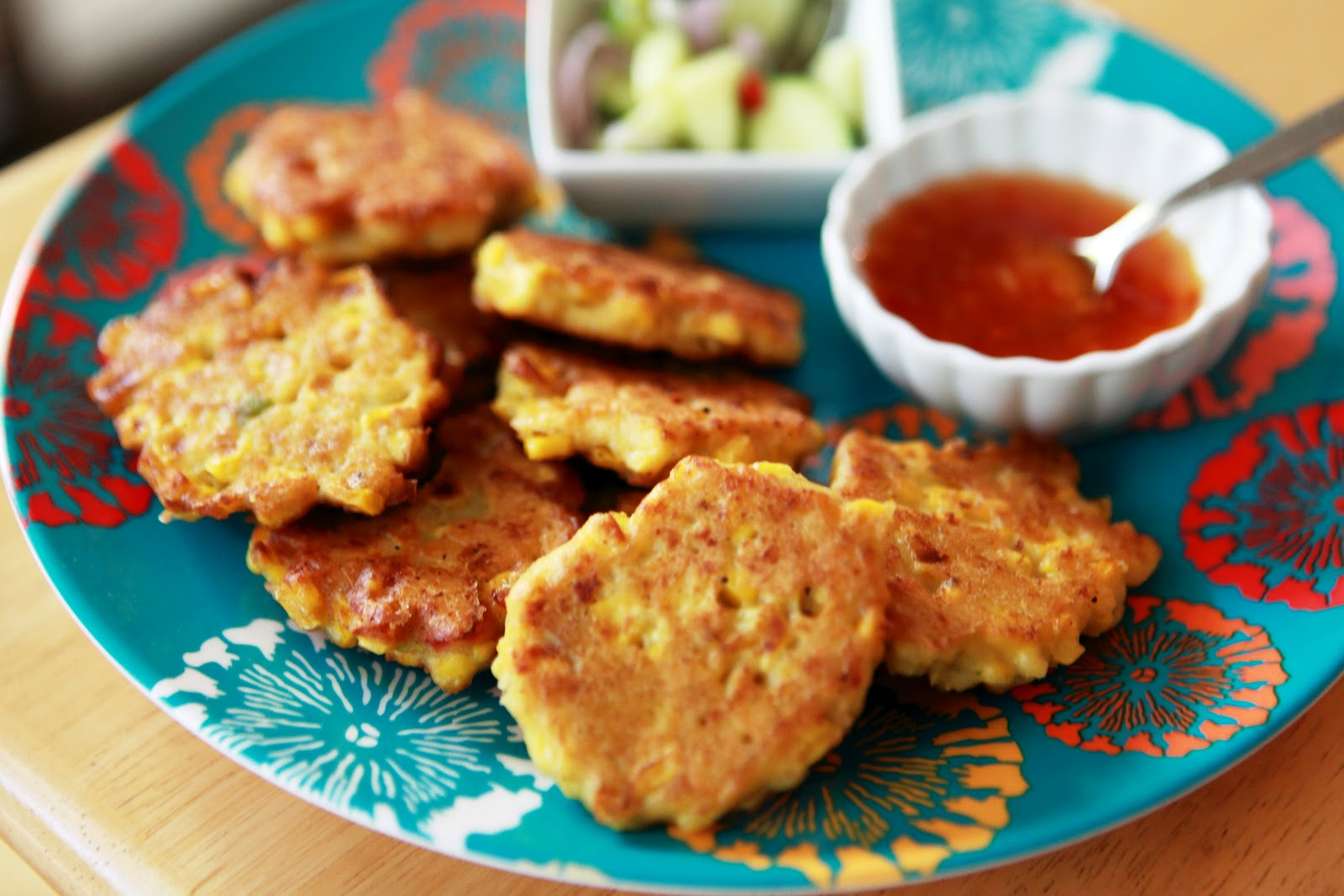 The Mistress of Spices: Thai corn fritters with cucumber ...