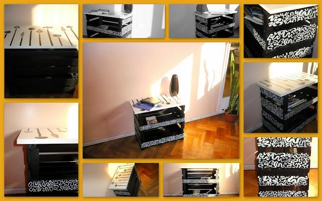 Tiempo libre renovando tu cuarto for Mesa con cajas de fruta