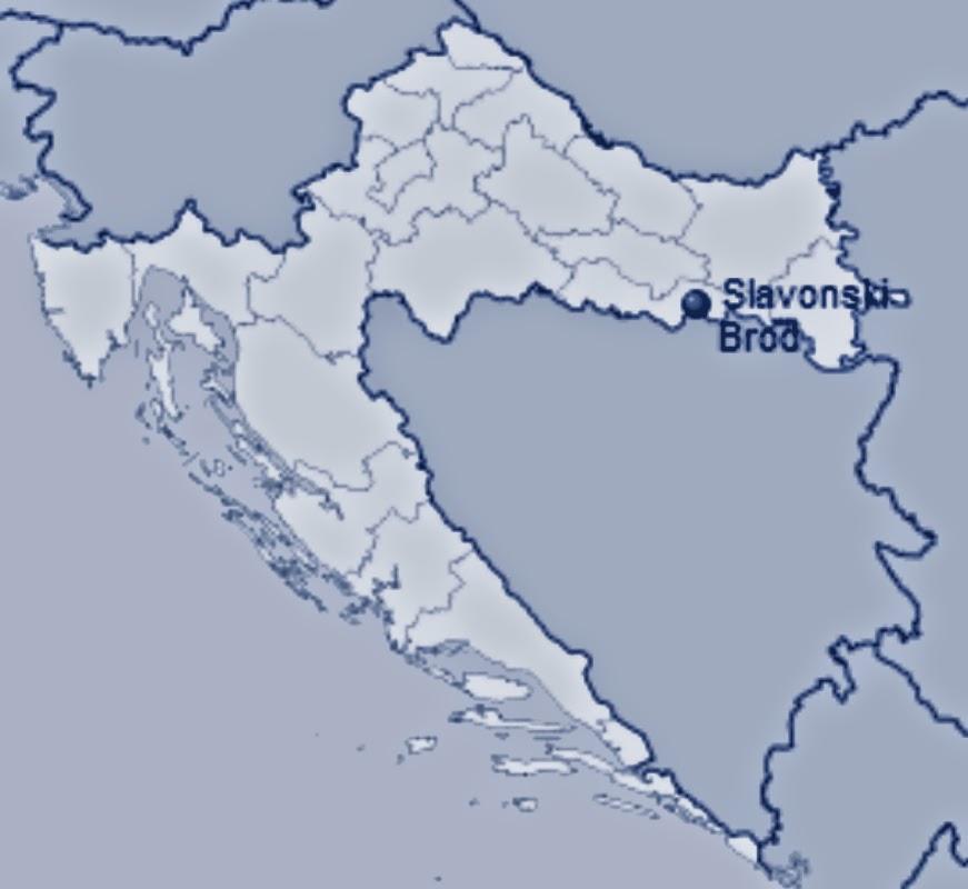 Slavonski Brod na karti
