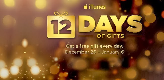 ITunes - 12 Days Of Christmas: Free Apple Gifts: Update 2014 - 2015