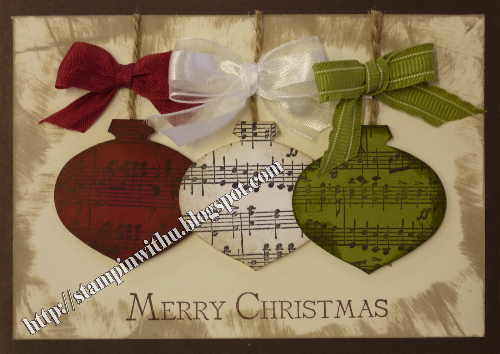 Stampin\' with U: Christmas Music Cards
