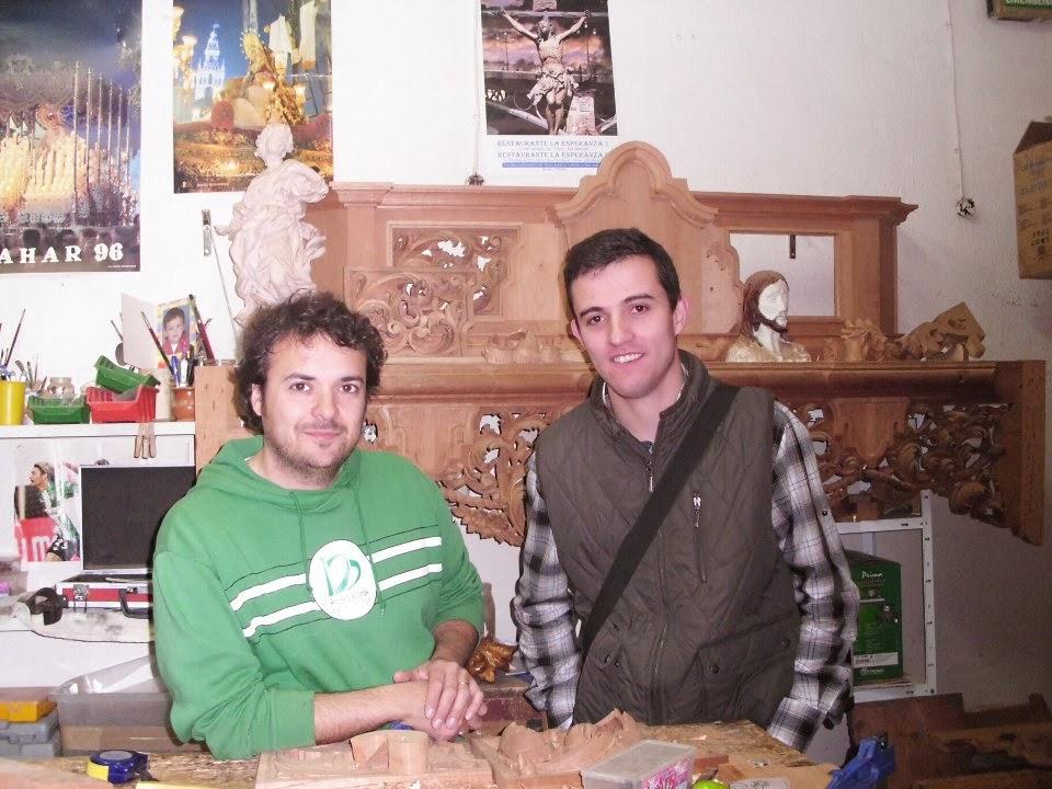 Visita a un Artista , Juan Manuel Pulido, Tallista sevillano