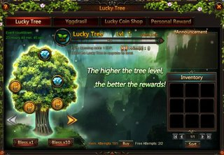League of Angels Lucky Tree