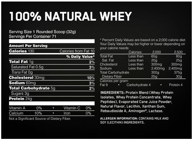 Optimum Nutrition Natural Whey Review