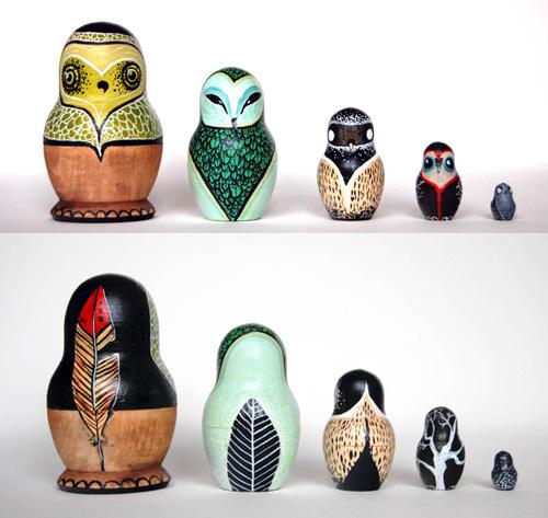 Owl Nesting Dolls Nesting Dolls