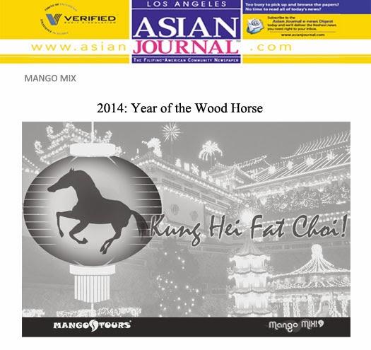 Asian Journal Mango Mix 2014 Year of the Wood Horse Mango Tours