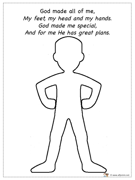god made me special coloring page all play on sunday god made me