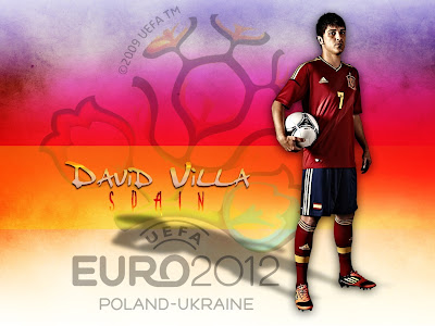 David Villa Spain National Football Team Euro 2012 HD Desktop Wallpaper
