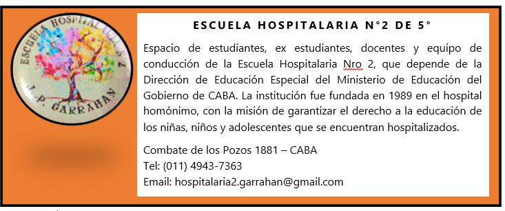 Escuela Hospitalaria Nº 2 Prof. Dr. J. P. Garrahan
