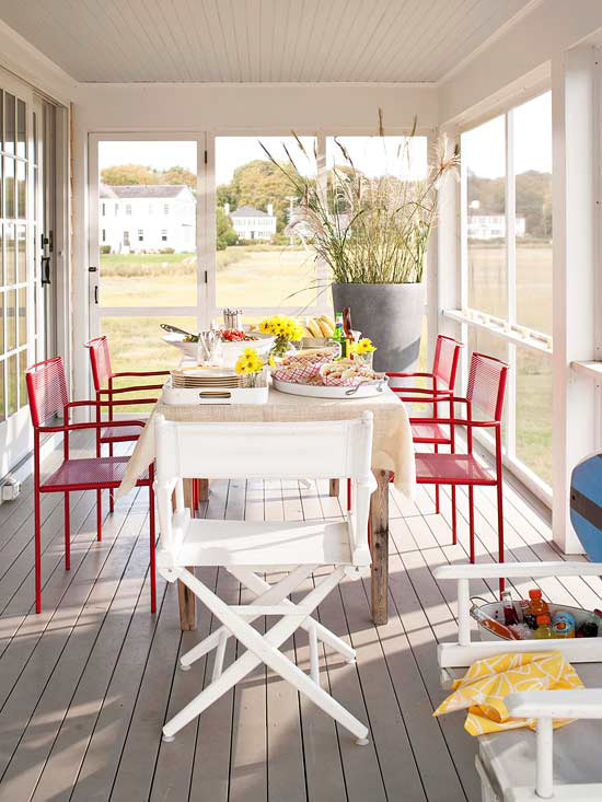 Decorating porches ideas for summer 2013 decorating idea Screened in porch decor