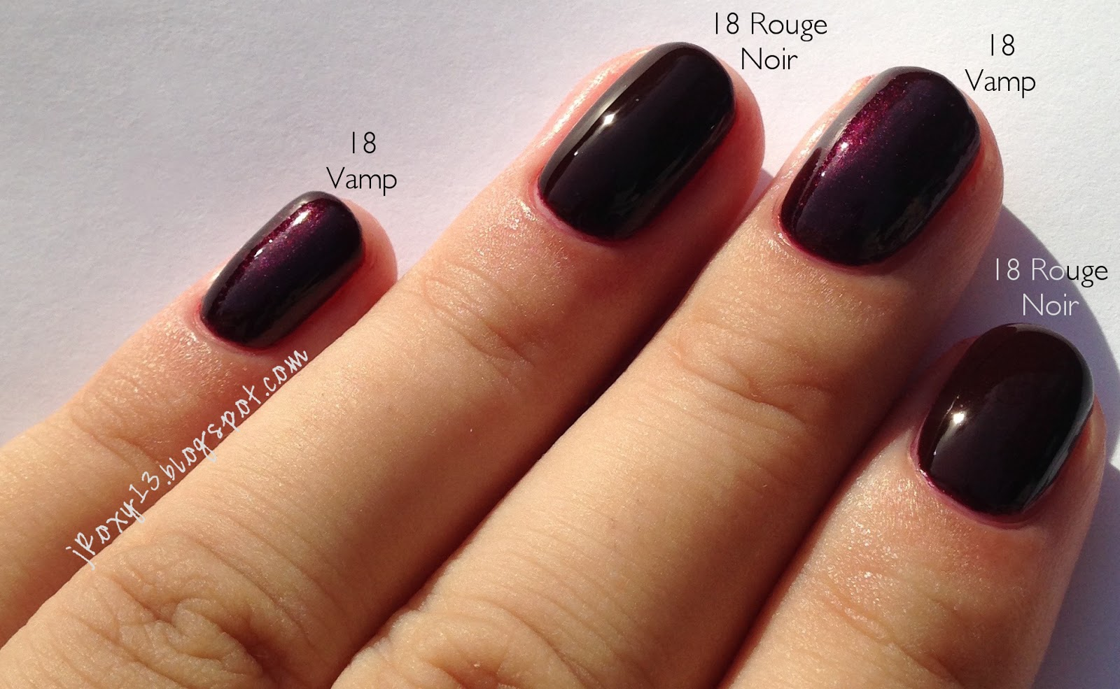 Chanel in #18 Rouge Noir, #18 Vamp, #757 Rose Fusion, and ...