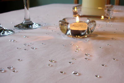 Scatter Crystals Wedding Table Decoration
