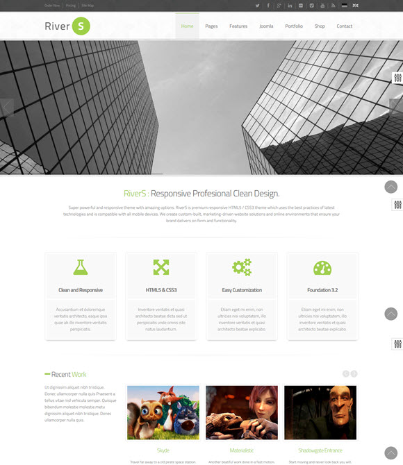 RiverS Responsive Multi-Purpose Joomla Template