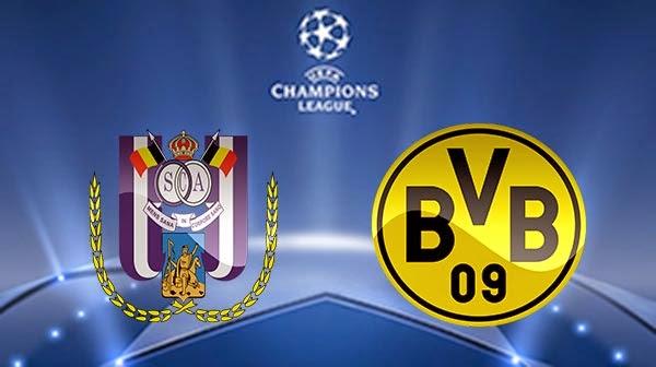 مشاهدة مباراة بروسيا دورتموند واندرلخت بث مباشر 09-12-2014 | Borussia Dortmund vs Anderlecht