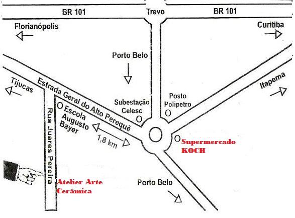 Localização do Atelier de Cerâmica