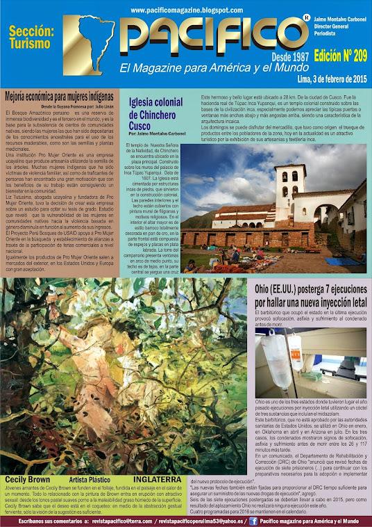 Revista Pacífico Nº 209 Turismo
