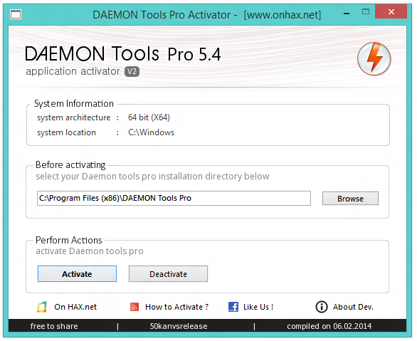 Daemon Tools Pro Advanced Setup + Activator : Download Activator Only : Dow