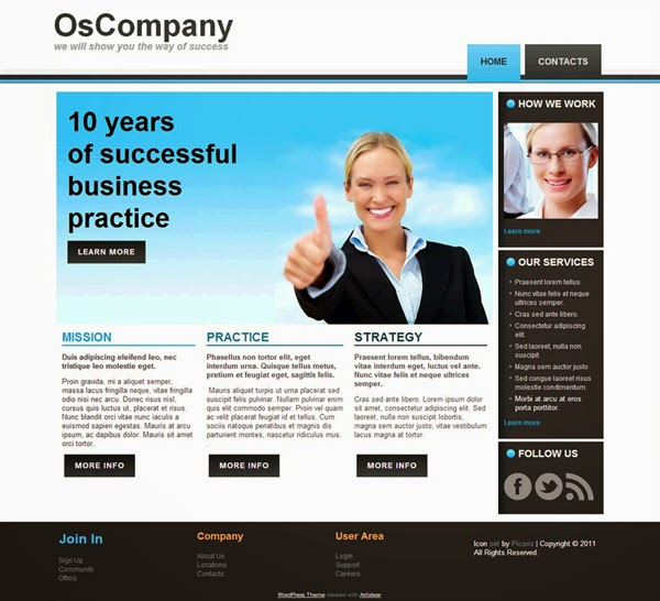 OsCompany - Free Wordpress Theme