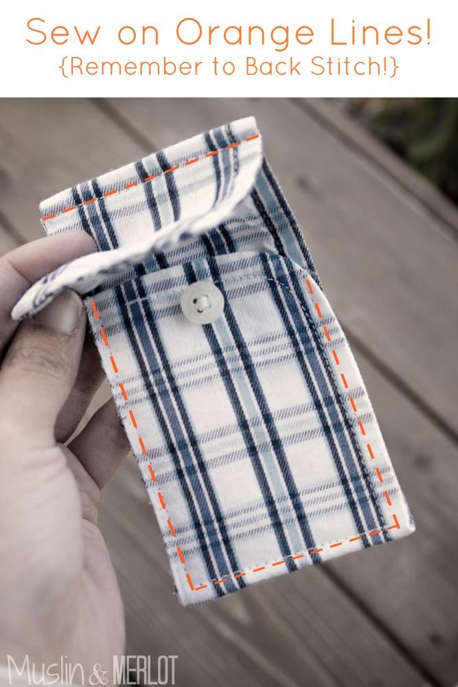 Shirt Cuff Gift Card Holder