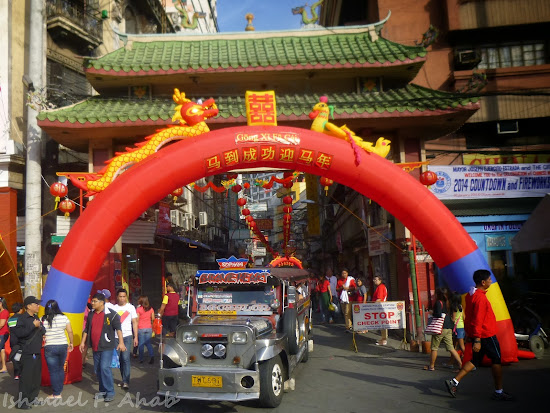 Binondo Chinatown 2014 Chinese New Year - balloon arch to Ongpin Street